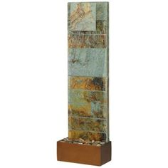 "Slate Waterfall 45"" High Clock Fountain | LampsPlus.com $200"