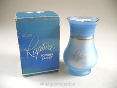 Vintage Avon Rapture Powder Sachet two white by VintageImageBox