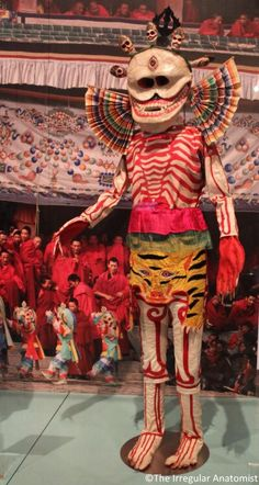 Dancing Skeleton costume, Tibet, National Museum of Scotland, Edinburgh Charles Freger, Skeleton Dance, Skeleton Costumes, Larp, Tibetan Art, Baphomet, Vintage Halloween, Vintage Witch, Halloween Halloween