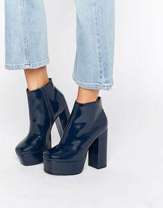 2326af23842ae8 ASOS – ELLEN – Ankle-Boots mit Plateausohle Absatzschuhe