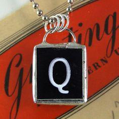 Letter Q Pendant $20