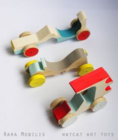Wooden car toy by Watermelon Cat Company on Etsy