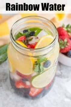 Infused Water Recipes, Fruit Infused Water, Fruit Water, Fresh Fruit, Detox Drinks, Healthy Drinks, Healthy Snacks, Detox Juices, Fun Drinks