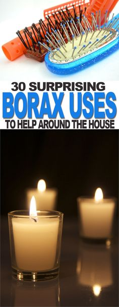 Borax is surprisingly versatile, it can do everything from removing stains to making candles last longer. | The Ultimate Pinterest Party Week 316 Borax Cleaning, Household Cleaning Tips, Cleaning Wipes, Cleaning Hacks, Mildew Remover, Stain Remover Carpet, Stain Removers, Cleaners Homemade, Diy Cleaners