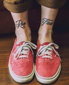 run fast tattoo