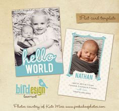 INSTANT DOWNLOAD - Birth announcement template - Brothers - E274