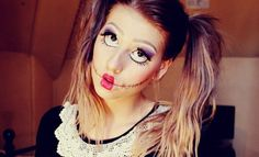 maquillaje-de-munequita-de-trapo-para-halloween-2014-paso-a-paso Más