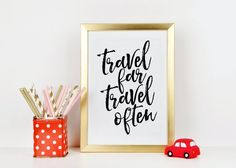 PRINTABLE Art Travel Far Travel OftenInspirational by TypoHome