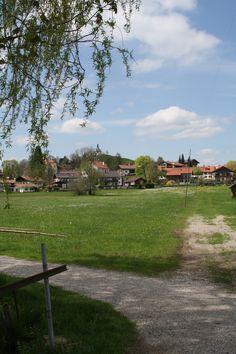 Weggabelung am Soier See, Bad Bayersoien, Ammergauer Alpen