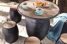 Table Baril, Tonneau Bar, Barrel Table, Home And Deco, Restaurant Design, Decoration, Outdoor Decor, Home Decor, Tables