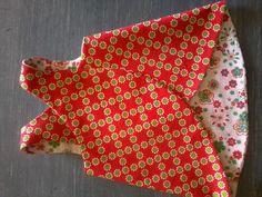 Elsie dress, Pinafore. Robe croisée dos.