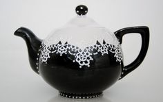 hand painted teapot.