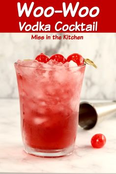 Woo-Woo Cocktail is a delicious mixed drink made with vodka, peach schnapps and pomegranate juice. A quick and easy mixed drink to enjoy after a long day or perfect for parties. Popular Mixed Drinks, Easy Mixed Drinks, Mixed Drinks Alcohol, Alcohol Drink Recipes, Best Vodka Mixed Drinks, Mix Drinks With Vodka, Fireball Recipes, Alcoholic Drinks Vodka, Vodka Cocktails