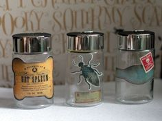 halloween-spice-jars from Halloween crafts for the kitchen via Dollar Store Crafts