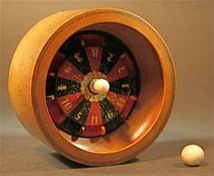Wood, Metal And Bone Roulette Wheel Traveling Gambling Game