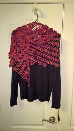 Night Moves - free crochet shawl pattern by PurpleIguana