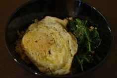 spinach and fried egg quinoa from Cook Like Kayla
