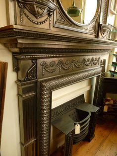 Ancient Antique Fireplace to Bring Back Your Old Memories: Amazing Iron Fireplace Design Antique Fireplaces Wooden Floor ~ nabilags.com Fireplace Inspiration