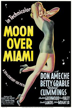 Moon Over Miami (1941) starring Don Ameche, Betty Grable & Robert Cummings