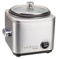 off on CUISINART 7 Cup Rice Cooker.Now making the perfect rice dish is easy with the new brushed stainless Cuisinart rice cooker. Small Rice Cooker, Best Rice Cooker, Slow Cooker, Top 14, Small Kitchen Appliances, Kitchen Gadgets, Kitchen Tools, Kitchen Stuff, Kitchen Hacks