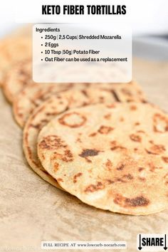 This Keto Fiber Tortillas Recipe made with super special new Fiber Fathead Dough, that is extra pliable for any Keto Dishes you can imagine. These 3 ingredients onlyNut-Free Keto Dough is extra versatile for any of the Grain-free, Gluten-free or Sugar-free Keto Recipes to come.