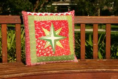 Mariner Star pillow tutorial by Don't Call Me Betsy, via Flickr