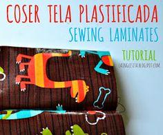 la inglesita: TUTORIAL para coser con telas plastificadas o laminadas