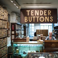Tender Buttons is in a tiny Manhattan townhouse, but it may house millions of buttons, practical, whimsical and collectible.