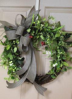 Fall Wreaths, Door Wreaths, Christmas Wreaths, Christmas Decorations, Easter Wreaths, Table Decorations, Diy Wreath, Grapevine Wreath, Etsy Wreaths