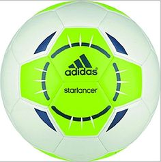 adidas Performance Starlancer IV Soccer Ball, White/Solar Green/Rich Blue, 3…