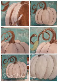 How to Paint a Pumpkin For Art Teachers and Personal Use I decided I needed a few more Fall decorations but I didn't want to spend too muc. Pumpkin Canvas Painting, Autumn Painting, Autumn Art, Diy Painting, Canvas Art, Canvas Paintings, Canvas Crafts, Pumpkin Art, Halloween Painting