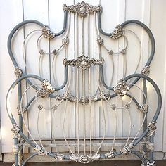 Bedding For Kids Safe - - Coffee In Bedding Quotes - Antique Iron Beds, Wrought Iron Beds, Antique Metal, Woodland Crib Bedding, Rustic Bedding, Painted Iron Beds, Iron Headboard, Bed Frame Design, Cozy Bedroom