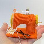 patron gratis maquina de coser amigurumi | Free amigurumi pattern sewing machine