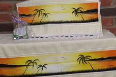 como pintar paisagem em toalha -COM VÍDEO