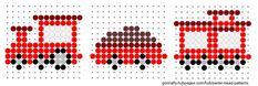 Little red train perler bead pattern