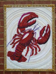 mardi gras bead lobster or crawfish - made to order
