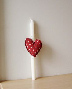 Items similar to Greek Easter candle with red heart plush, white Easter candle for girls and women with red white polka dotted fabric, heart girls lambada on Etsy Polka Dot Fabric, Polka Dots, Easter Candle, Greek Easter, Easter Crafts, Red And White, Valentines Day, Candle Holders, Plush