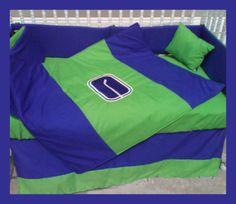 New Crib Bedding Set m/w VANCOUVER CANUCKS hockey team   eBay Hockey Teams, Hockey Stuff, Nursery Bedding Sets, Vancouver Canucks, Cribs, Baby Boy, Sports, Jackson, Room Ideas