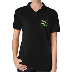 OKAKA Polo T Shirts Usain Bolt Rio 2016 Tees For Women Black ** Check this awesome product by going to the link at the image.(This is an Amazon affiliate link and I receive a commission for the sales)