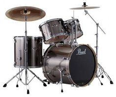 Export Series 5 Piece Drum Kit w/Hardware & Cymbals - Smokey Chrome - Long & McQuade -