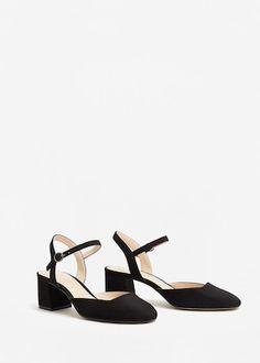 Chaussures à talons avec bride arrière - Femme | MANGO France 35,99€