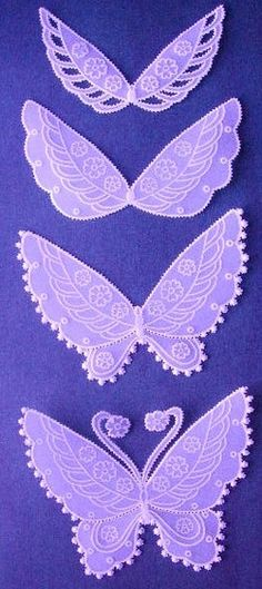 parchment embossed butterfly
