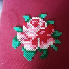 Rose flower perler beads by iron_beads