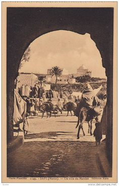 A corner of the market, Safi, Morocco, 1900-1910