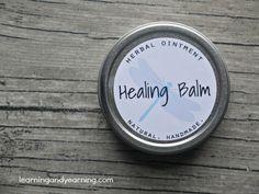 Make Your Own Herbal Healing Balm #skin care #recipe