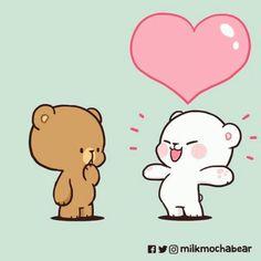 Cute Hug, Cute Love Gif, Cute Bear Drawings, Cute Little Drawings, Stickers Kawaii, Cute Stickers, Cute Cartoon Images, Cute Cartoon Wallpapers, Gif Mignon