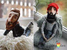 hipster men by Elena Gertsova