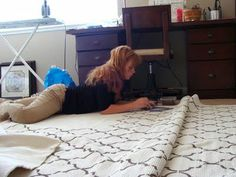 diy rug stenciling. purchase cotton rug from ikea for $40 (WHAT!?) and stencil with fabric paint.