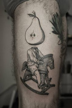 Odd but amazing #Surrealist #tattoo by #OttoDAmbre