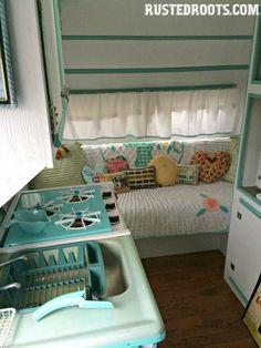 Love the colors, love the chenille bedspread :)